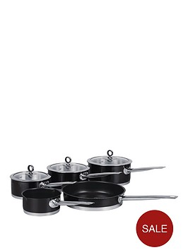 morphy-richards-5-piece-pan-set-black