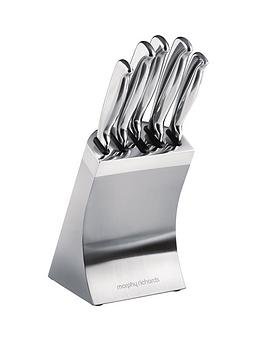 Morphy Richards 5Piece Knife Block  Stainless Steel