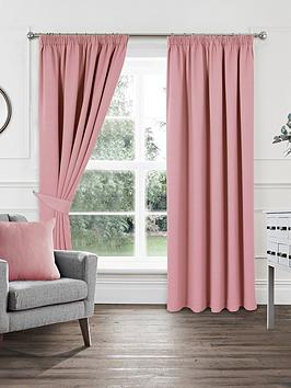 Very Woven Pleated Blackout Curtains Picture