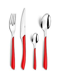 amefa-24-piece-colourful-eclat-cutlery-set-red