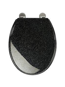 croydex-black-glitter-toilet-seat