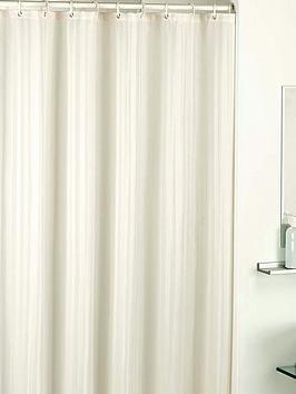 catherine-lansfield-satin-stripe-shower-curtain-cream