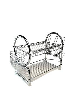Apollo Apollo Chrome Dish Drainer With White Tray Picture