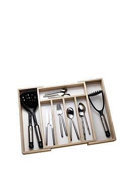 Apollo Rubber Wood Expanding Cutlery Draw