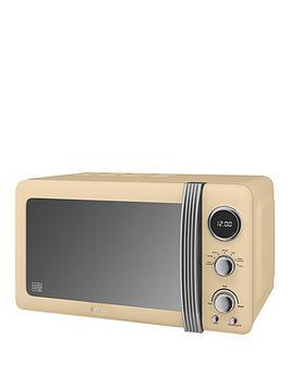 Swan Swan Sm22030Cn Retro 20-Litre Digital Microwave - Cream Picture