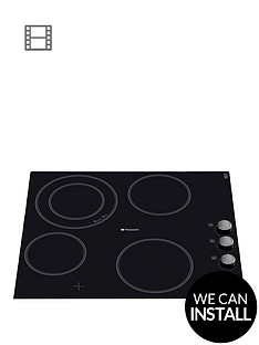 hotpoint-newstyle-crm641dc-60cm-built-in-ceramic-hob-with-optional-installation-black