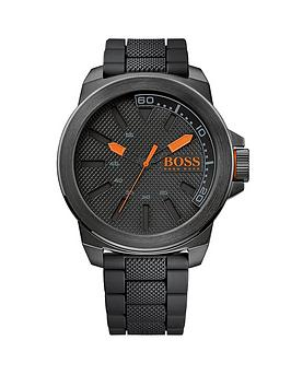 Hugo Boss Black Dial And Stainless Steel Bracelet Mens Watch
