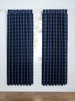 Catherine Lansfield Catherine Lansfield Stars &Amp; Stripes Lined Curtains Picture
