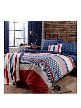 Catherine Lansfield Catherine Lansfield Stars And Stripes Duvet Cover Set Picture