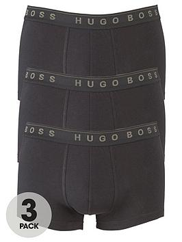 Boss   3 Pack Of Bodywear Core Trunks - Black