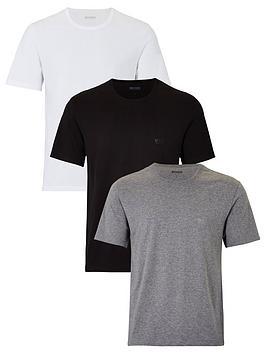 Boss   Bodywear Core T-Shirts (3 Pack) - Black/White/Grey