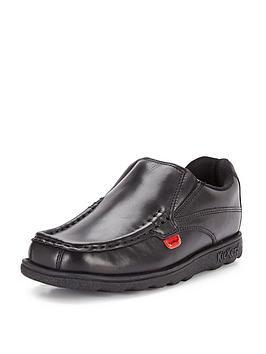 Kickers Kickers Boys Fragma Slip-On School Shoes - Black Picture