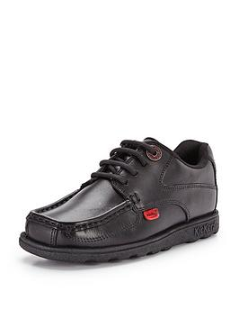 Kickers Kickers Fragma Lace Up School Shoes - Black Picture