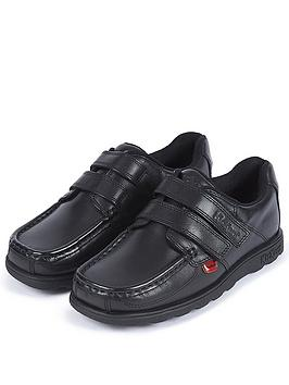 Kickers Kickers Boys Fragma Double Strap School Shoes - Black Picture