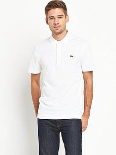 lacoste-plain-short-sleeve-polo-shirt-ndash-white
