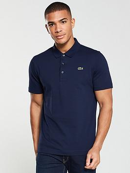 Lacoste Lacoste Plain Mens Short Sleeve Polo Shirt &Ndash; Navy Picture