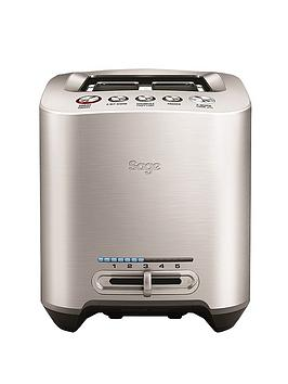 Sage By Heston Blumenthal Bta825Uk 2Slice Smart Toaster  Brushed Stainless Steel