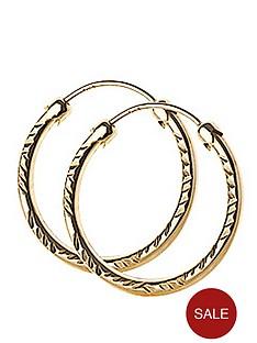 love-gold-9-carat-yellow-gold-18-mm-diamond-cut-capped-hoop-earrings