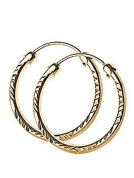 love-gold-9-carat-yellow-gold-18-mm-diamond-cut-capped-hoop-earrings