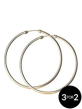 love-gold-9-carat-yellow-rolled-gold-45-mm-capped-tube-hoop-earrings