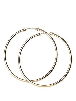 Love GOLD Love Gold 9 Carat Yellow Rolled Gold 45 Mm Capped Tube Hoop  ... Picture