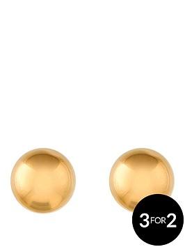 love-gold-9-carat-yellow-gold-5-mm-ball-stud-earrings