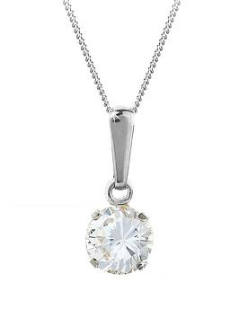 love-gem-9-carat-white-gold-6mm-round-white-cubic-zirconia-pendant