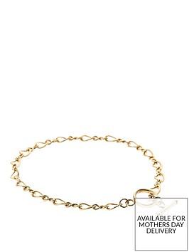 love-gold-9-carat-yellow-rolled-gold-figure-of-8-link-t-bar-bracelet