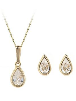 Love GOLD Love Gold 9 Carat Yellow Gold Pear Shaped Earring And Pendant  ... Picture