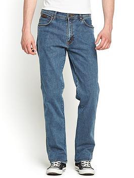 729e2fbb3 Wrangler Mens Texas Stretch Straight Jeans - Stonewash | littlewoods.com