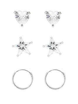 the-love-silver-collection-sterling-silver-set-of-3-heart-star-and-hoop-childrens-earrings