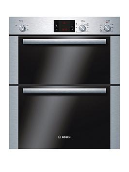 Bosch Hbn13B251B Classixx 60Cm BuiltUnder Double Hot Air Oven  Brushed Steel