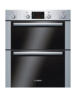 Bosch Hbn43B250B Classixx 60Cm Built Under Electric Double Oven  Brushed Steel