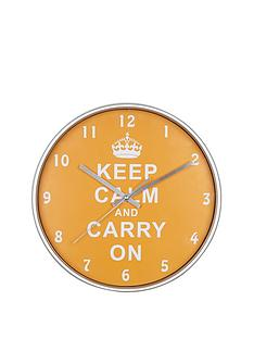 keep-calm-and-carry-on-wall-clock