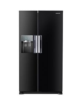 Samsung Rs7667FhcbcEu FrostFree AmericanStyle Fridge Freezer With Twin Cooling Plus&Trade System  Black