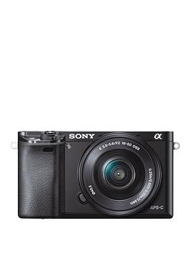 Sony Ilce6000 24.3 Megapixel Interchangeable Lens Digital Camera With Selp1650 Lens Kit  Black