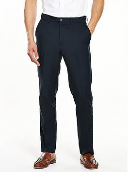 Farah Classic Mens Flexiwaist Trousers  Navy