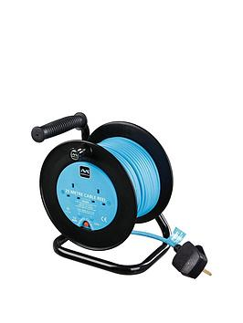 Masterplug   10 Amp Extension Cord, 2 Sockets, Open Reel (25 M)