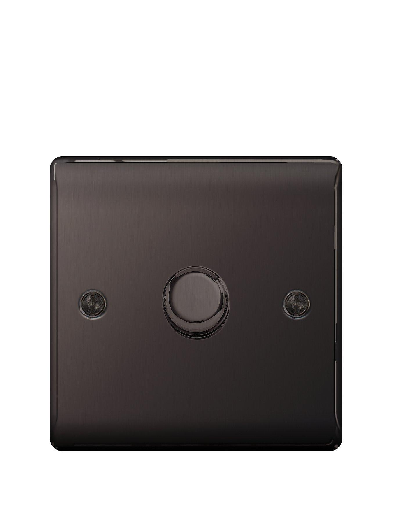 Compare prices for British General Electrical Raised 1G Dimmer Switch - Black Nickel