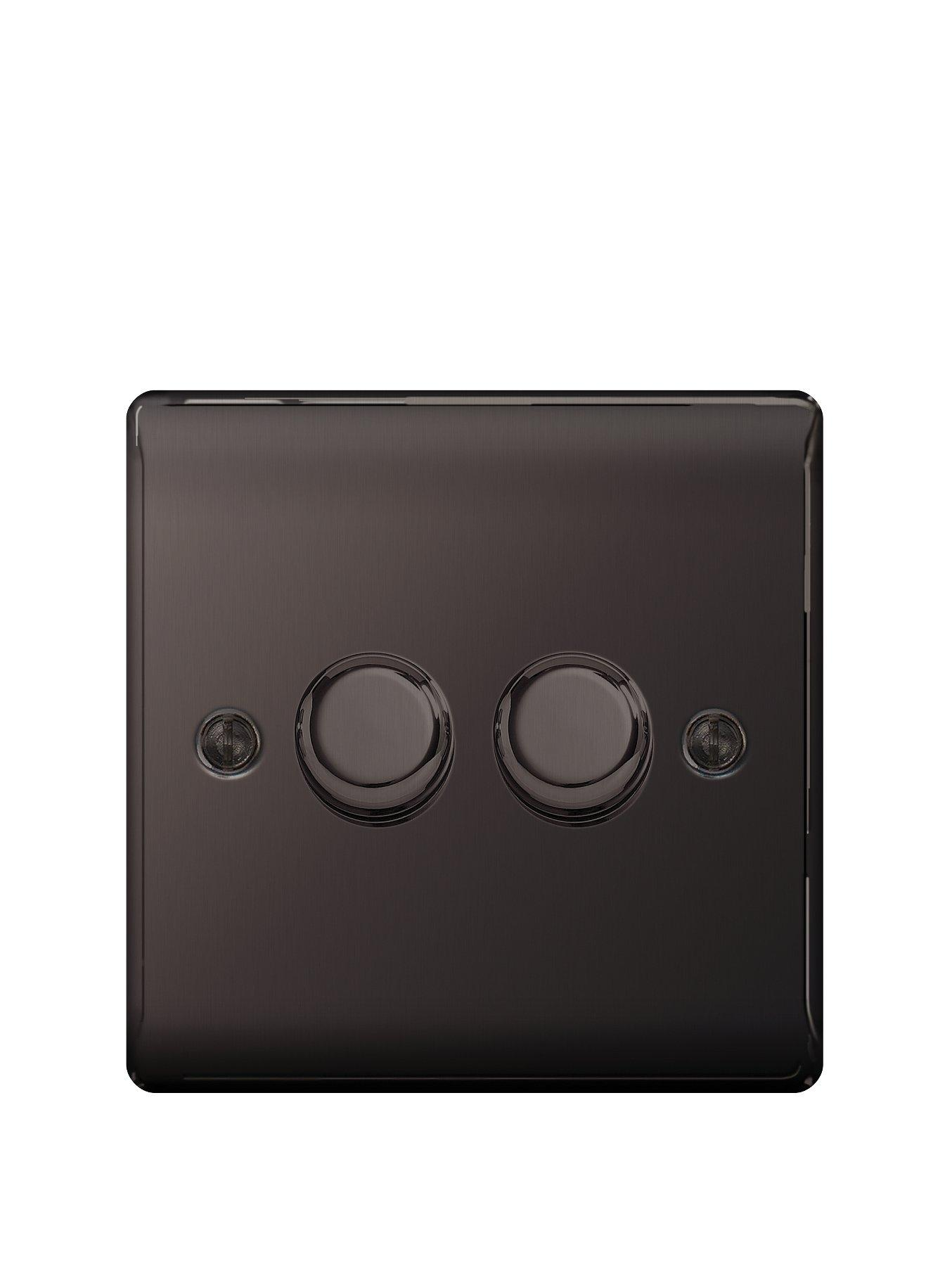 Compare prices for British General Electrical Raised 2G Dimmer Switch - Black Nickel