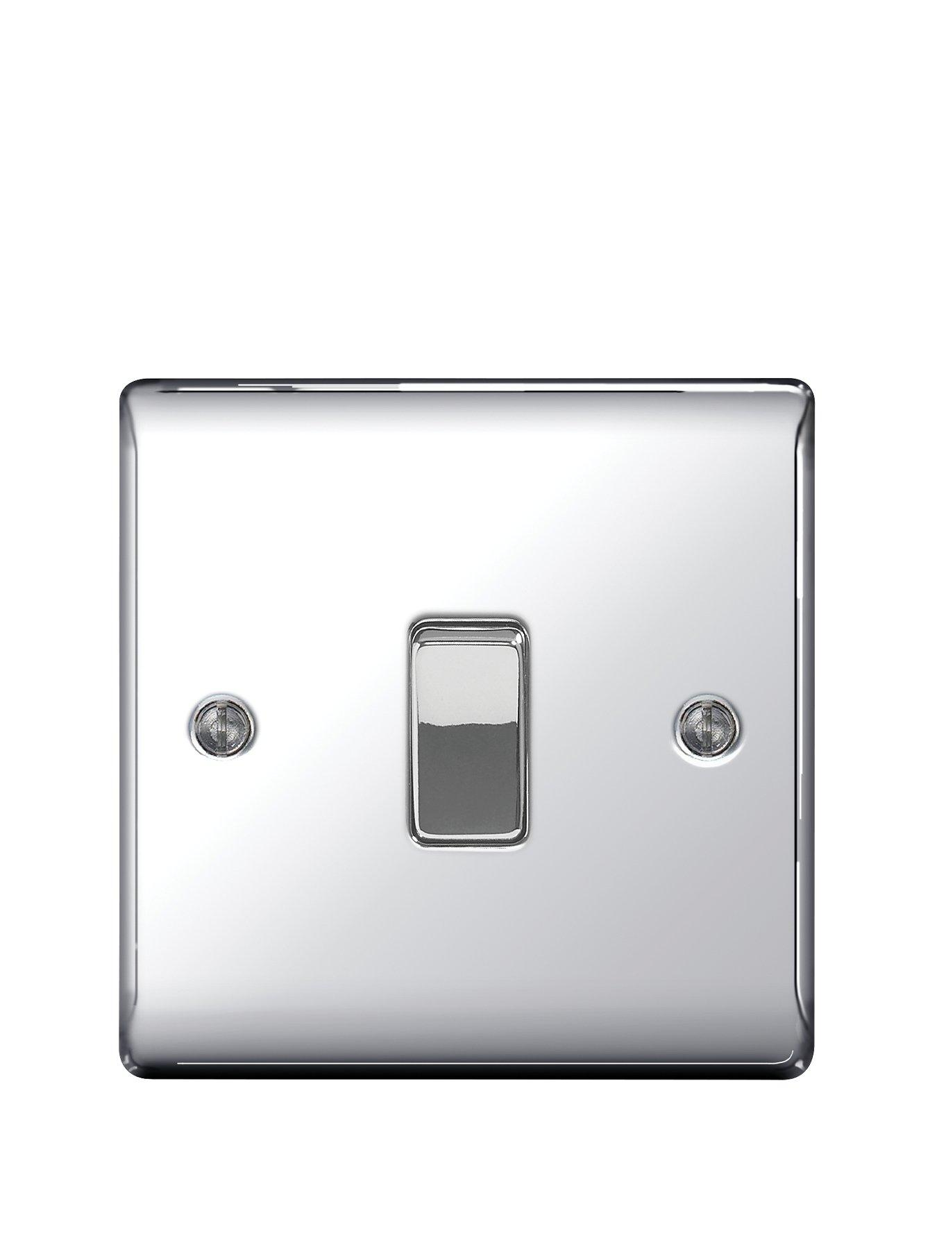 Compare prices for British General Electrical Raised 1G 2-Way Switch - Polished Chrome
