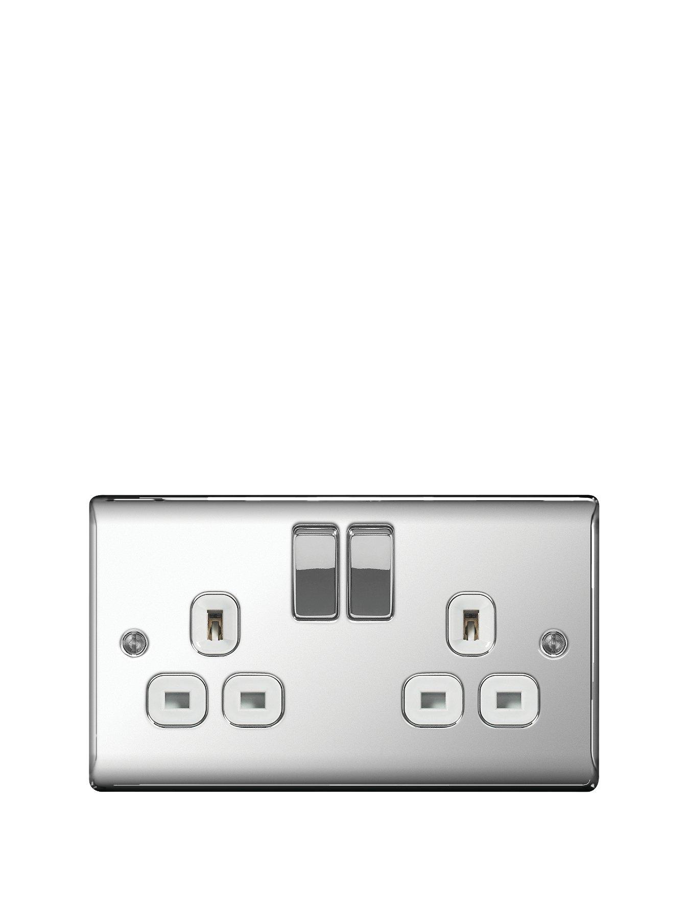 Compare prices for British General Electrical Raised 2G Switched Socket 13 Amp - Polished Chrome