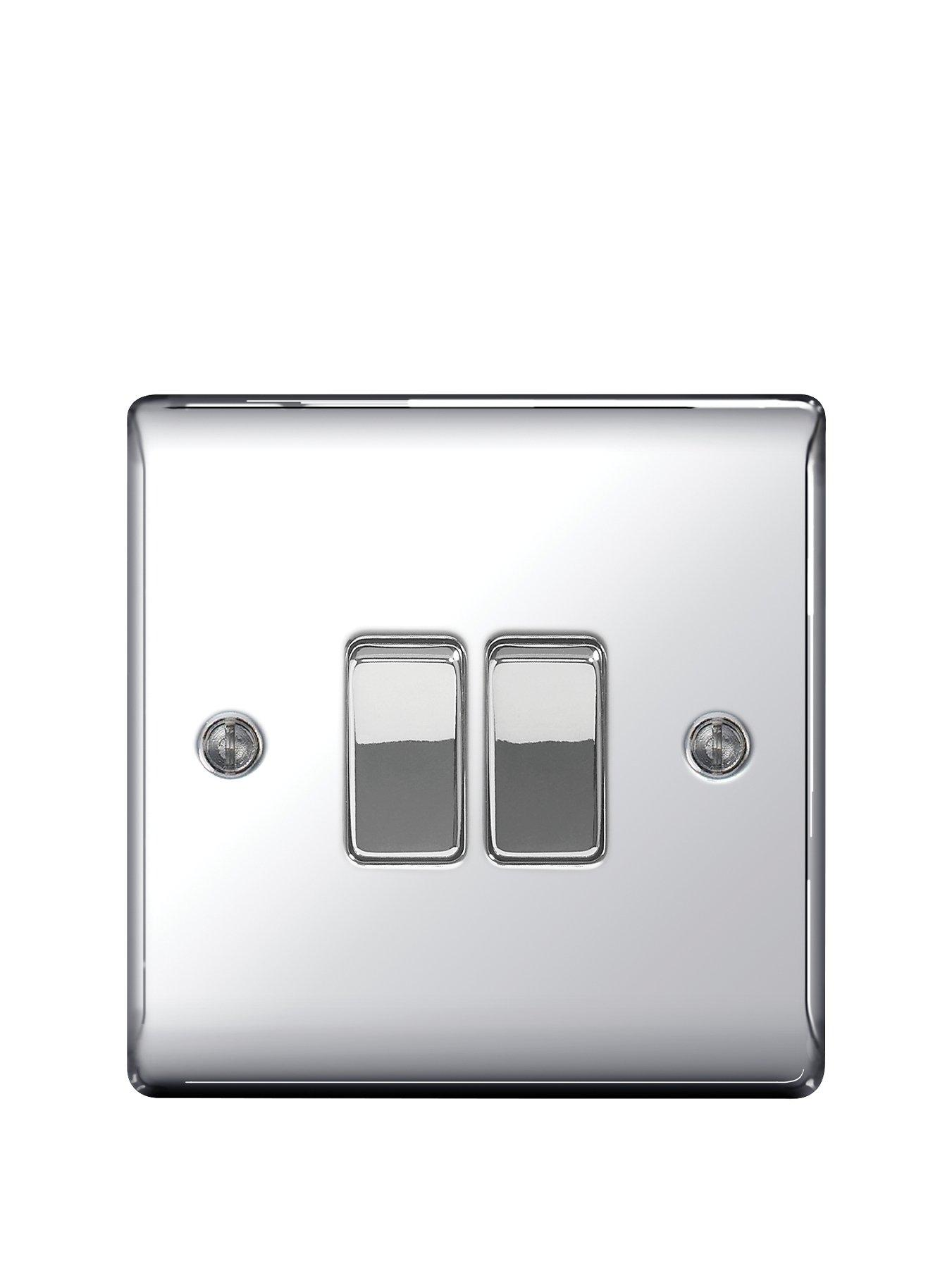 Compare prices for British General Electrical Raised 2G 2-Way Switch - Polished Chrome