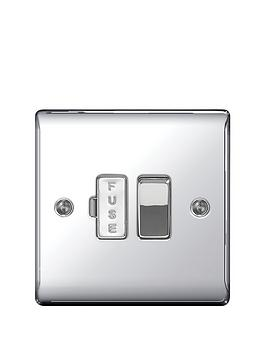 british-general-electrical-raised-switched-fused-connection-unit-polished-chrome