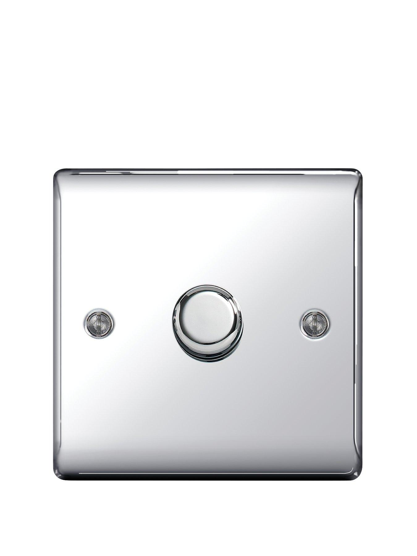 Compare prices for British General Electrical Raised 1G Dimmer Switch - Polished Chrome