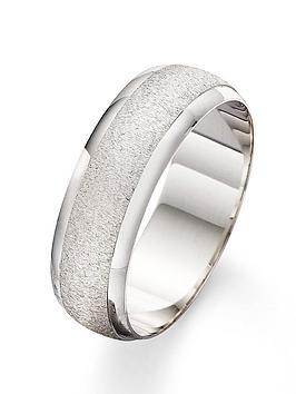 Love GOLD Love Gold 9 Carat White Gold Patterned Wedding Band 7Mm Picture