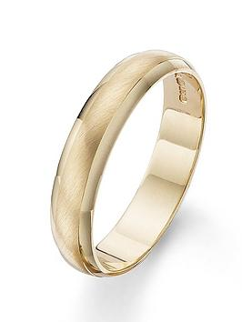 Love GOLD Love Gold 9 Carat Yellow Gold 4Mm Matt And Polished Wedding Band Picture