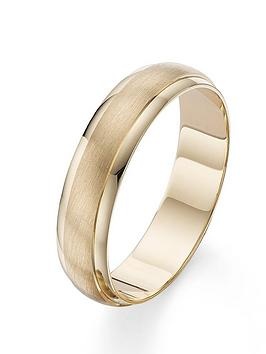 Love GOLD Love Gold 9 Carat Yellow Gold 6Mm Matt And Polished Wedding Band Picture