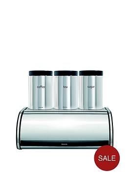 brabantia-roll-top-bread-bin-and-tea-coffee-sugar-canister-set