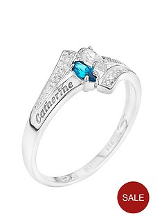 love-gem-personalised-sterling-silver-crossover-cubic-zirconia-ring